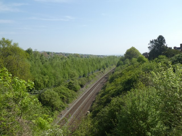 Railway cutting, Mount Pleasant, Exeter