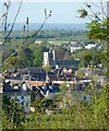 SP9211 : Tring church from the path to Stubbing's Wood by Rob Farrow