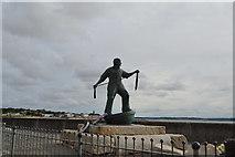 SW4629 : Newlyn Fishermen Memorial by N Chadwick
