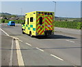 ST3090 : Yellow ambulance descending Malpas Road, Newport by Jaggery