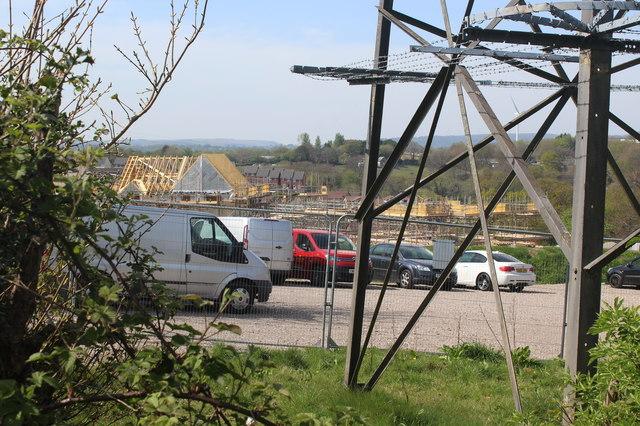 Site car park for new housing estate