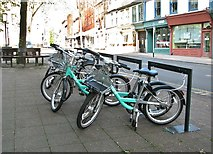 TG2208 : Beryl bikes for hire in St Giles Street by Evelyn Simak