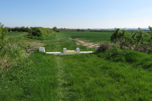 Poacher's block on the path to Broughton