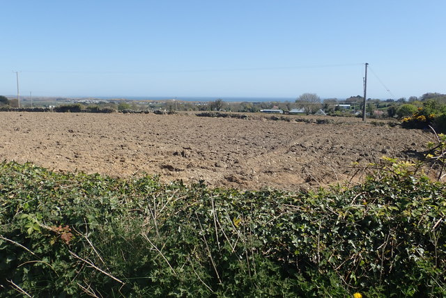 Ploughed land next to the Middle Tollymore Road