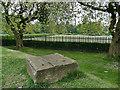 SE2733 : Armley Park: mystery stone by Stephen Craven