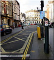 ST3188 : No Cycling sign,  High Street, Newport by Jaggery