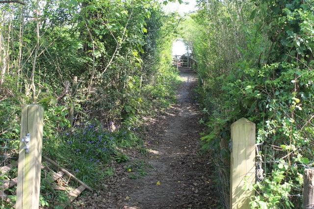Public footpath up towards West View Crescent