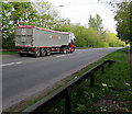 ST2992 : Graham K.Sweeting lorry on the A4051, Llantarnam, Cwmbran by Jaggery