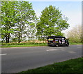 ST2992 : Warrior black van on the A4051, Llantarnam, Cwmbran by Jaggery