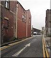 ST3187 : White arrow on School Lane, Newport by Jaggery