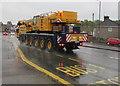 ST3090 : Ainscough mobile crane in the rain, Malpas Road, Newport by Jaggery