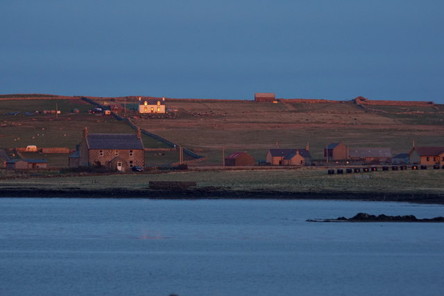 Sundown over the voe at Baltasound