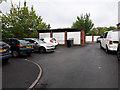 SE2534 : Lock-up garages, Aston Terrace, Bramley by Stephen Craven
