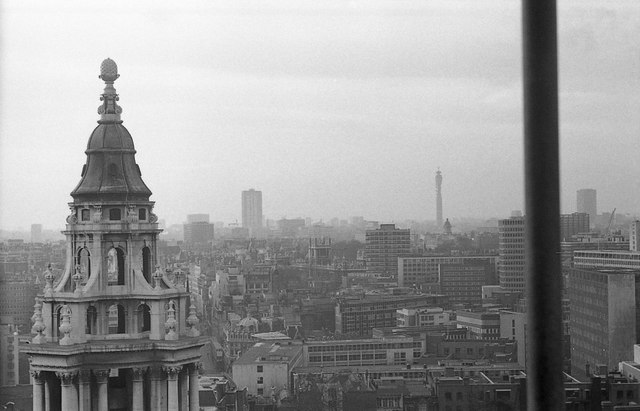 View over London in 1974
