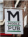 TA0257 : Sign for the Middle Pub, Driffield by JThomas