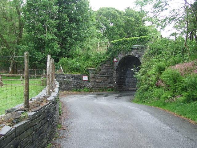 Disused Railway Bridge Over Minor Road