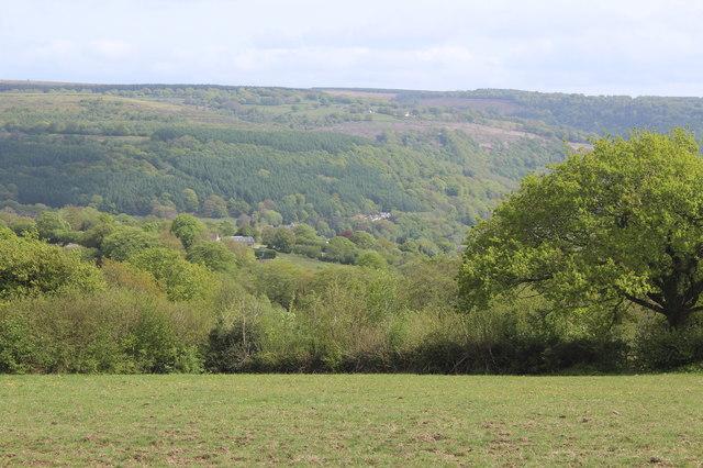 View across head of Cwm Dows