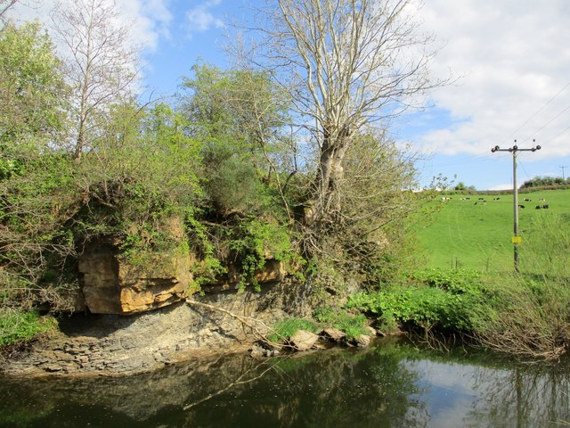 Small outcrop on the banks of the Nethan