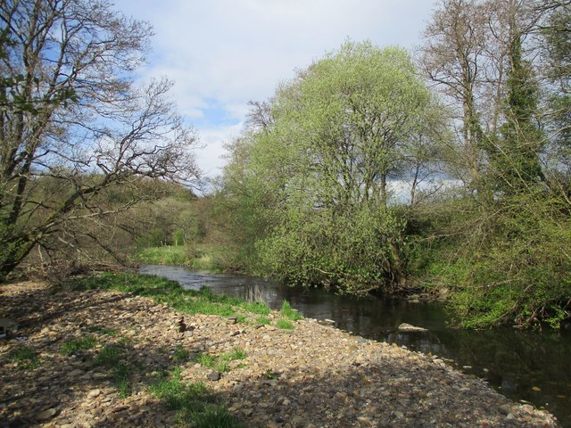 Downstream view, River Nethan