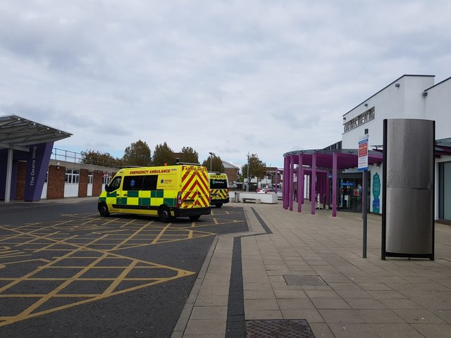 Ambulances beside the Emergency Department