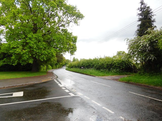 View of Wycombe Road from Lodge Lane, Prestwood