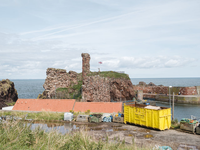Dunbar Castle and Harbour view