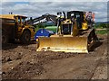 SO8541 : Bulldozer at gravel pit by Philip Halling