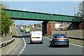 NZ3262 : Railway Bridge over Leam Lane by David Dixon