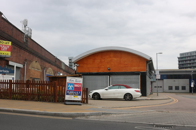 Industrial units by Alperton Station