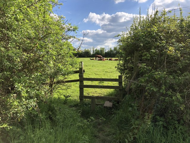 Stile on the path to Gumbrill's Farm