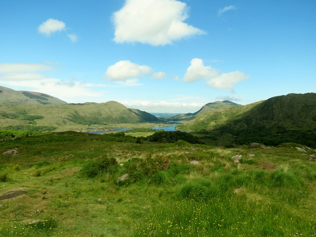 The  view  from  Ladies  View  toward  Killarney