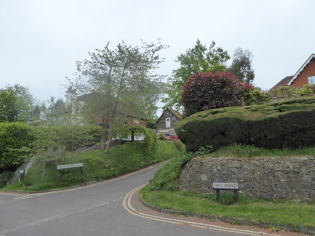Approaching the junction of Hill Road and Old Haslemere Road