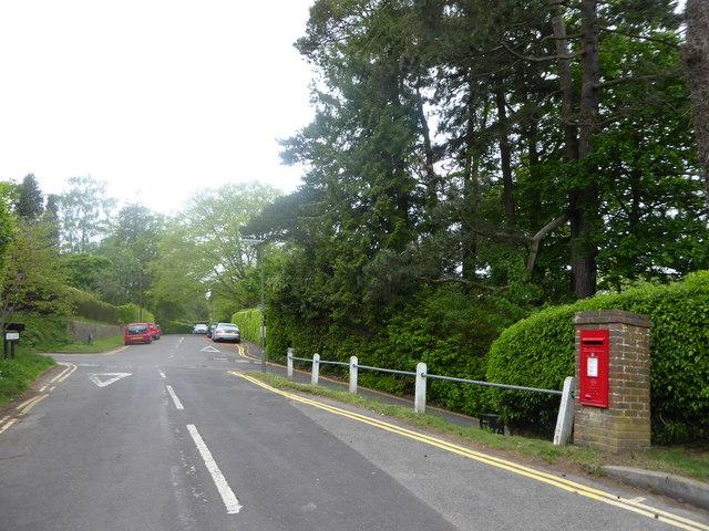 Post box in Hill Road