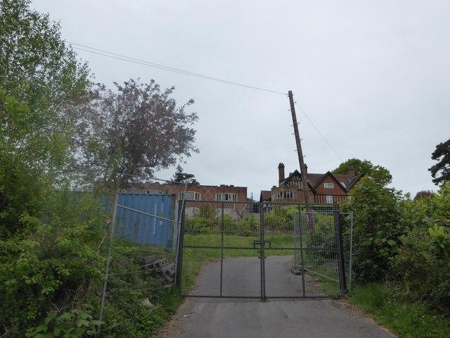 Derelict buildings in Hill Road
