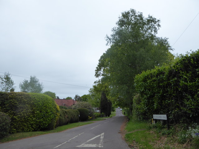 Looking from Scotland Lane into Old Haslemere Road