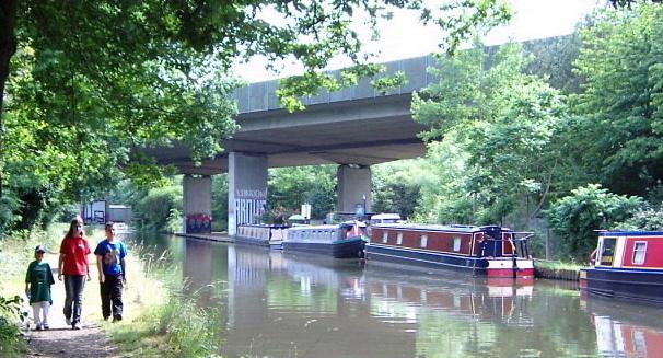 M25 Motorway over River Wey Navigation