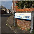 SZ0795 : East Howe: Etches Close by Chris Downer