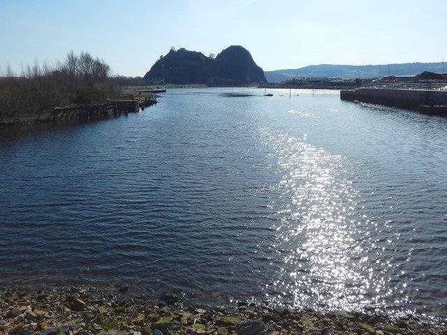 Old tidal basin of shipyard