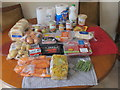 TQ2081 : Food box delivered during coronavirus isolation by David Hawgood