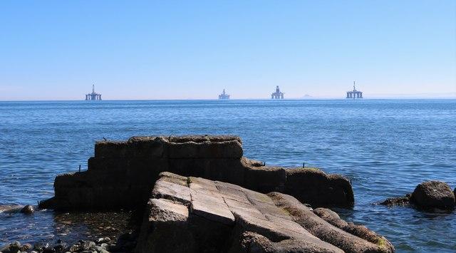 Oil rigs off Buckhaven