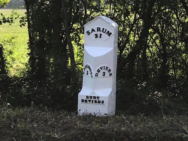 Old Milepost by the A360, Lavington Road, south of Potterne