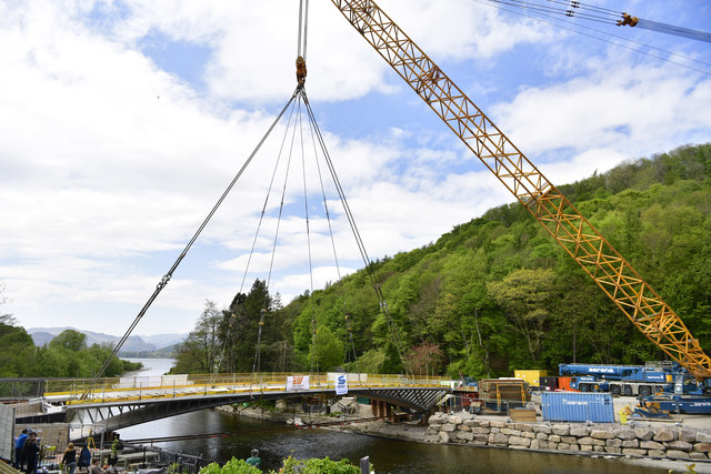 The new Pooley Bridge is safely in position