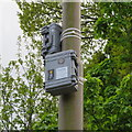 NT2470 : CCTV cameras at the entrance to the Hermitage of Braid by M J Richardson