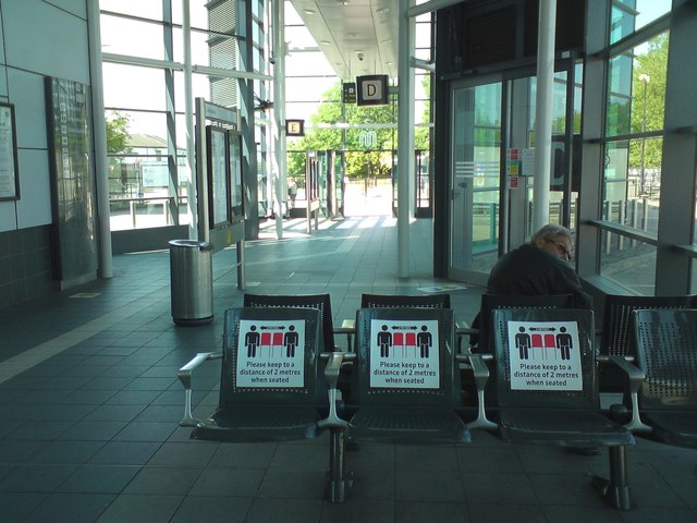 Social distancing in Hyde Bus Station