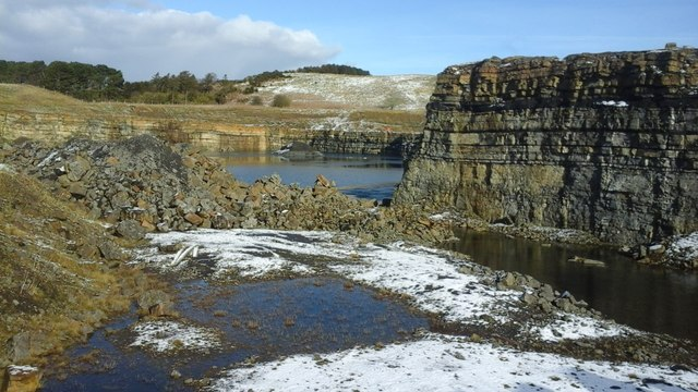 The Great Limestone at Mootlaw Quarry