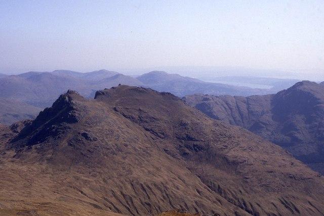 Ben Arthur (The Cobbler) as seen from Beinn Ime