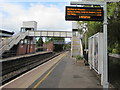 SO5058 : Electronic display on platform 2, Leominster station by Jaggery
