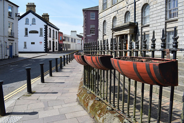 Empty flower boxes, Omagh