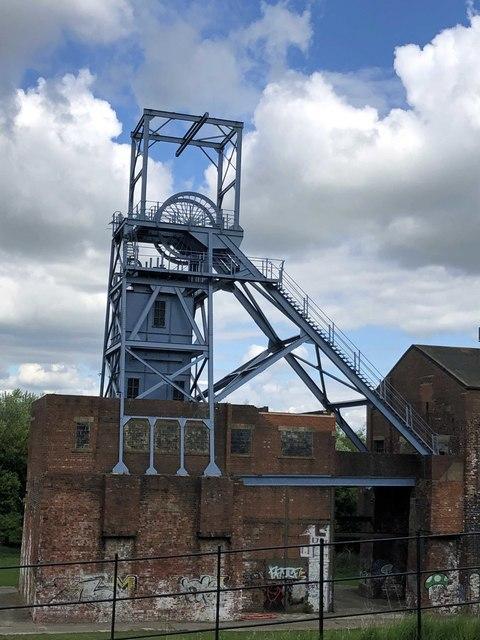 The former Barnsley Main Colliery head frame