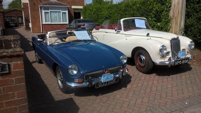 1952 Sunbeam-Talbot and 1971 MGB Roadster, Werrington